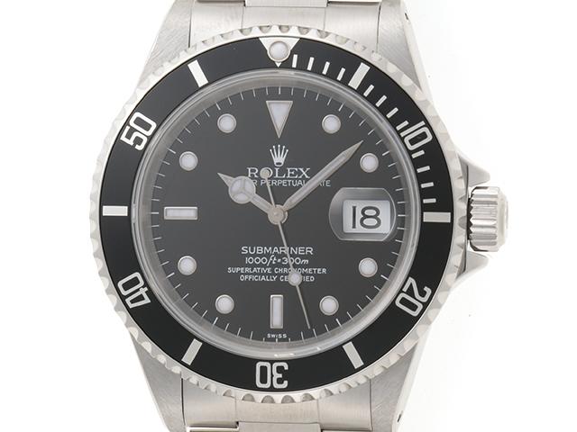 【送料無料】ROLEX ロレックス 時計 オートマチック サブマリーナ SS 16610 ブラック A番【431】【中古】【大黒屋】