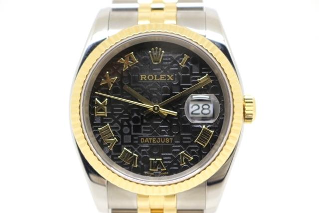 [送料無料]ROLEX ロレックス 時計 デイトジャスト 116233 ステンレス イエロゴールド コンビ オートマチック メンズ 【200】【中古】【大黒屋】