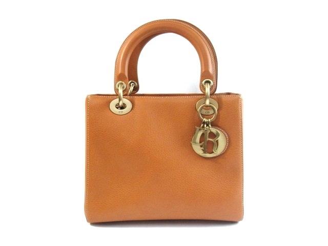 【送料無料】Dior ディオール バッグ ハンドバッグ レディーディオールハンドバッグ 型押し【430】【中古】【大黒屋】