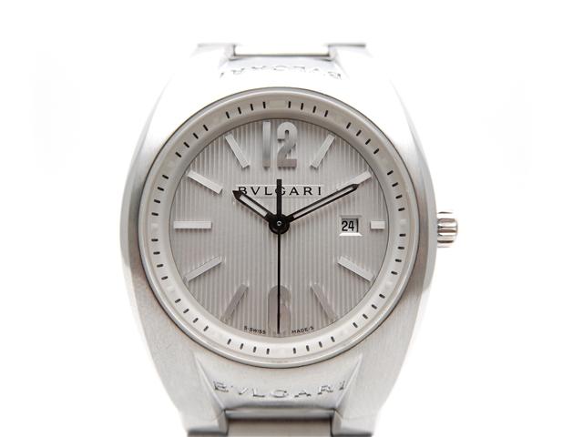 【送料無料】BVLGARI 時計 エルゴン クオーツ ステンレス EG30S ホワイト文字盤 レディース【439】【中古】【大黒屋】