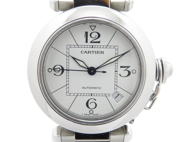 【送料無料】Cartier カルティエ パシャC ユニセックス ボーイズ オートマチック ステンレス ホワイト 【474】【中古】【大黒屋】