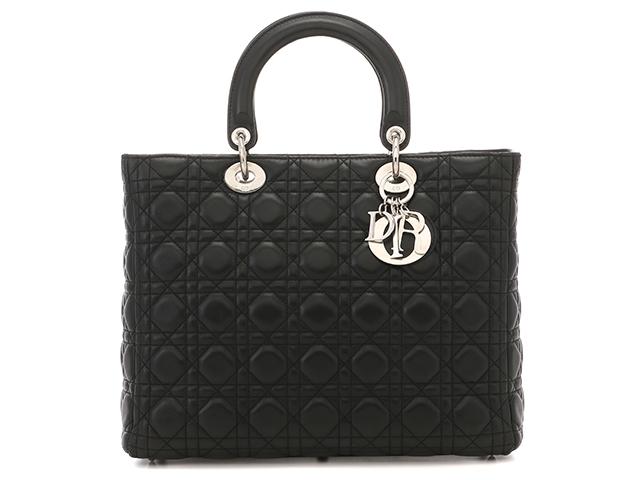 【送料無料】Dior ディオール バッグ レディーディオールショルダー ラムスキン【471】【中古】【大黒屋】