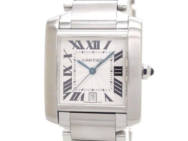 【送料無料】Cartier カルティエ タンクフランセーズLM W51002Q3 【432】【中古】【大黒屋】