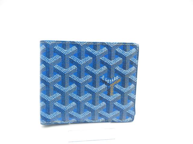 送料無料 GOYARD 二つ折財布 PVC ブルー430大黒屋2DW9IEH