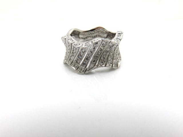 【送料無料】JEWELRY ジュエリー 貴金属 宝石 リング K18ホワイトゴールド ダイヤモンド 12.5号【431】【中古】【大黒屋】