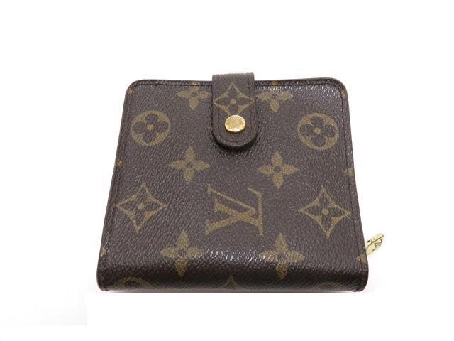 LOUIS VUITTON ルイ・ヴィトン コンパクト・ジップ 財布 モノグラム M61667【434】【中古】【大黒屋】