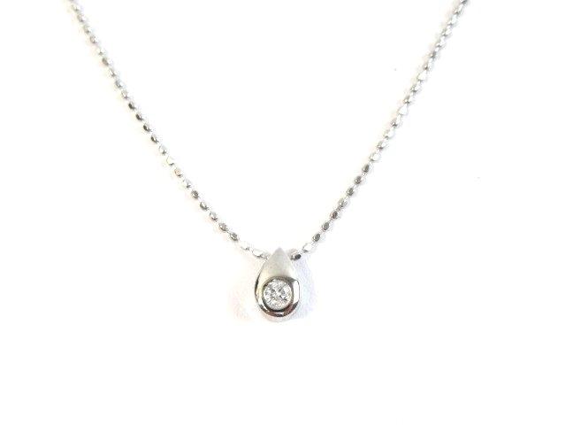 JEWELRY ノンブランド ジュエリー K18WG ネックレス ダイヤモンド 1.3g【413】【中古】【大黒屋】