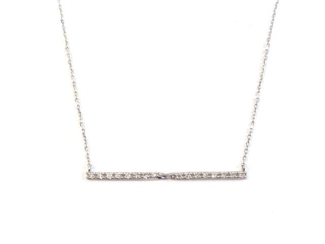 JEWELRY ノンブランド ジュエリー K18WG ネックレス ダイヤモンド 2 0g 413大黒屋EIYbD9eWH2