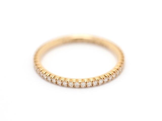 【送料無料】Cartier カルティエ リング 指輪 フルエタニティリング ピンクゴールド ダイヤモンド 49号 【412】【中古】【大黒屋】