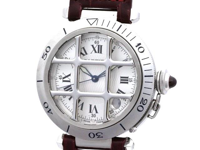 【送料無料】Cartier 時計 パシャ グリット オートマチック 150周年記念・1847本限定【472】【中古】【大黒屋】