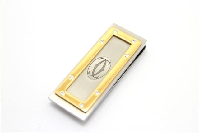 Cartier カルティエ サントス マネークリップ SS/GP【460】【中古】【大黒屋】