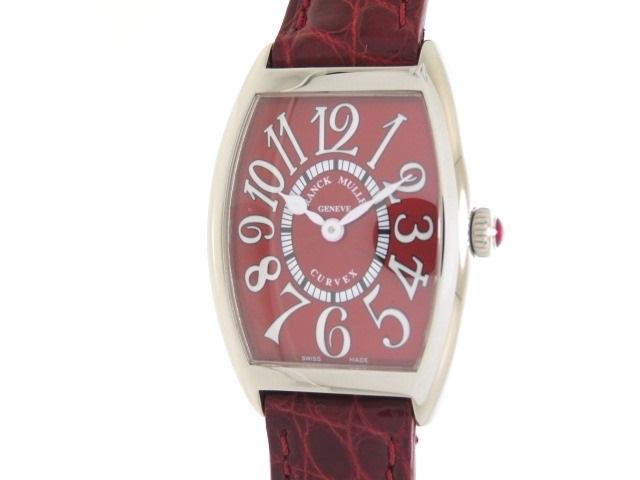 【送料無料】FRANCK MULLER フランクミュラー 時計 トンーカーベックス 1752MQZ  レッドカーペット ステンレススチール 革(クロコダイル) クォーツ 【200】【中古】【大黒屋】