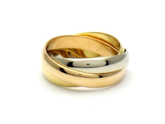 Cartier カルティエ トリニティ リング 指輪 3カラー YG PG WG 48号 【437】【中古】【大黒屋】