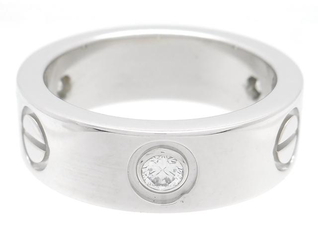 【送料無料】Cartier カルティエ 貴金属・宝石 ラブリング ダイヤリング ラブRハーフ 3Pダイヤモンド WG ホワイトゴールド 8.1g 47号 日本サイズ7号 B4032500 【200】【中古】【大黒屋】