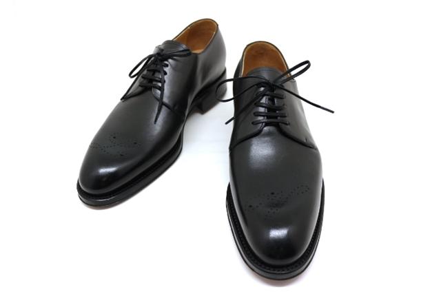 【送料無料】LOUIS VUITTON ルイヴィトン LV 革靴 メンズ 6ハーフ 約25.5cm ブラック レザー 【200】【中古】【大黒屋】