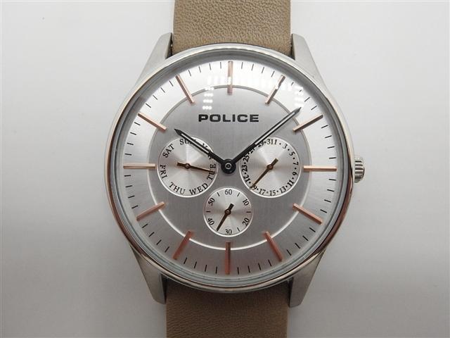 POLICE 時計 クオーツ COURTESY/革【410】【中古】【大黒屋】