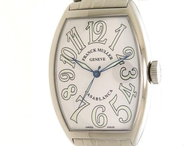 【送料無料】FRANCK MULLER フランクミュラー 時計 カサブランカ 5850CASA ステンレススチール オートマチック 白文字盤 123.8g 【432】【中古】【大黒屋】