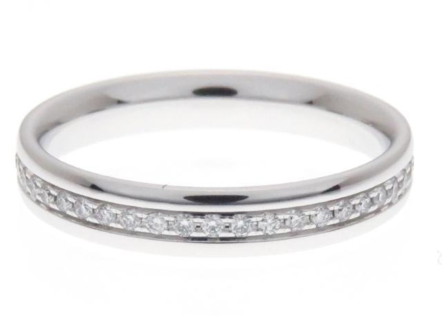 【送料無料】TIFFANY&CO ティファニー リング ダイヤモンド メトロフルサークルリング WG D 2.6g #8【434】【中古】【大黒屋】