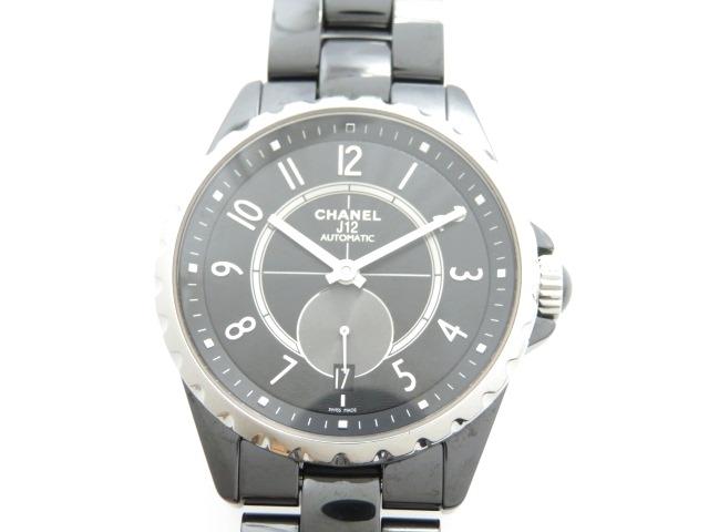 【送料無料】CHANEL シャネル 時計 J12-365 H3836 セラミック オートマチック ブラック 【474】【中古】【大黒屋】