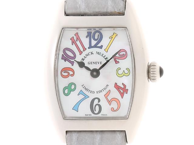 【送料無料】FRANCK MULLER 時計 トノーカーベックス・カラードリームス クオーツ シェル文字盤 レディース 革/SS【434】【中古】【大黒屋】
