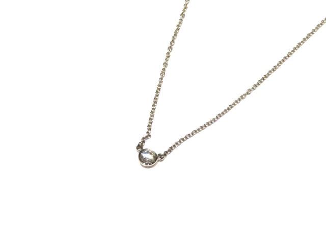 [送料無料]TIFFANY&CO ネックレス バイザヤードネックレス プラチナ950 ダイヤモンド【204】【中古】【大黒屋】