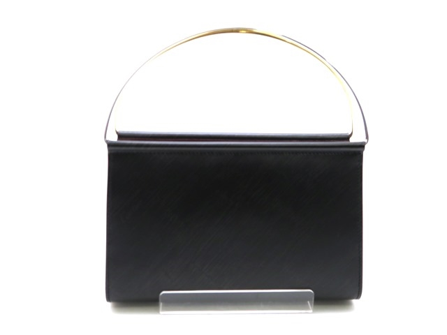Cartier カルティエ ハンドバッグ トリニティ カーフ ブラック【473】【中古】【大黒屋】