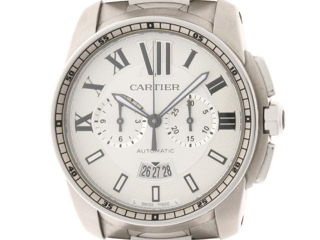 【送料無料】Cartier カルティエ カリブル ドゥ カルティエ クロノグラフ W7100045 メンズ 自動巻き ステンレス SS【430】【中古】【大黒屋】