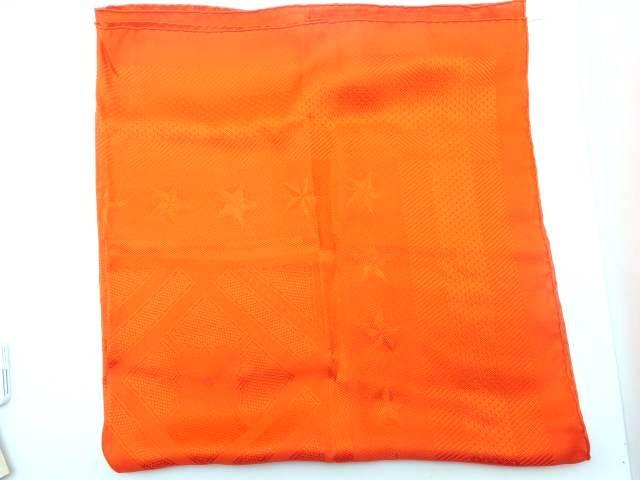 HERMES スカーフ オレンジ【435】【中古】【大黒屋】