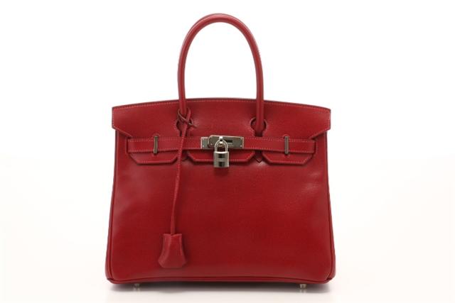 【送料無料】HERMES バッグ バーキン30 ハンドバッグ ルージュヴィフ 赤 レッド リセ □G刻印 2003年【472】【中古】【大黒屋】