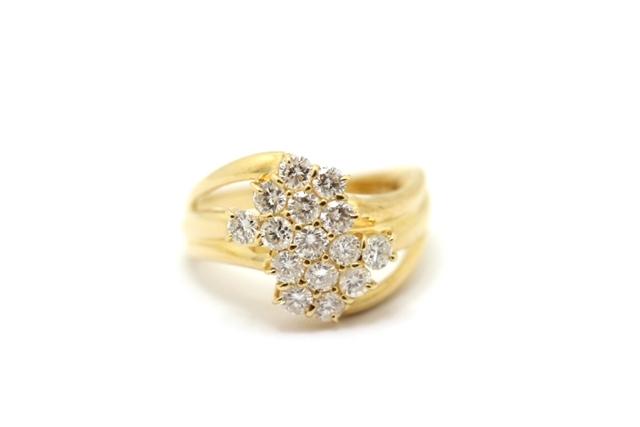 【送料無料】JEWELRY 貴金属・宝石 リング イエローゴールド ダイヤモンド K18/D1.00/5.0g/【205】【中古】【大黒屋】