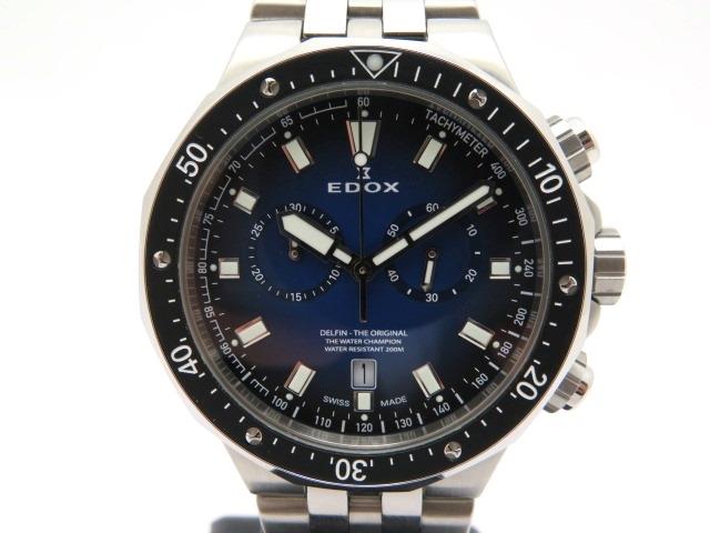 【送料無料】EDOX エドックス デルフィンオリジナルクロノ 10109-3M-BUIN メンズ ステンレス クオーツ【430】【中古】【大黒屋】