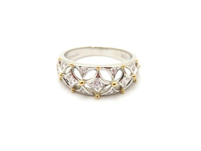 ノンブランドジュエリー リング 指輪 K18 プラチナ900 ダイヤモンド0.24ct 14.5号 【472】【中古】【大黒屋】