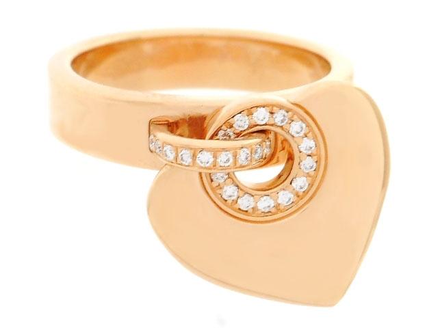 【送料無料】BVLGARI ブルガリ BB クオーレ リング 指輪 ピンクゴールド ダイヤモンド ハート 10.5号 【200】【中古】【大黒屋】