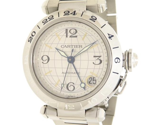 【送料無料】Cartier カルティエ 時計 パシャC メリディアンW31029M7 オートマチック  ステンレススチール 【205】【中古】【大黒屋】