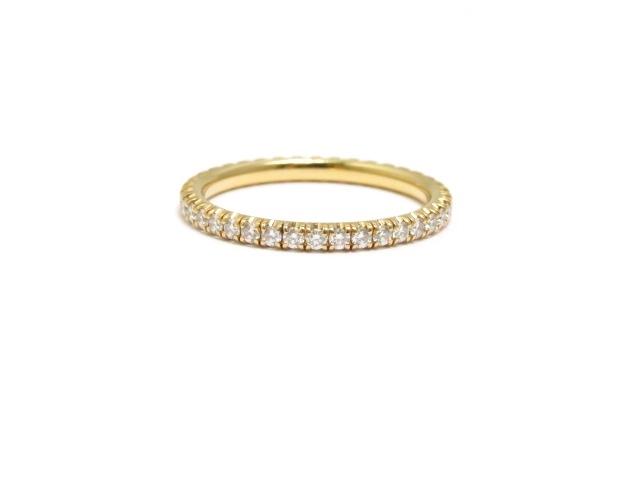 【送料無料】Cartier カルティエ PG ダイヤモンド エタニティリング 54号 【430】【中古】【大黒屋】