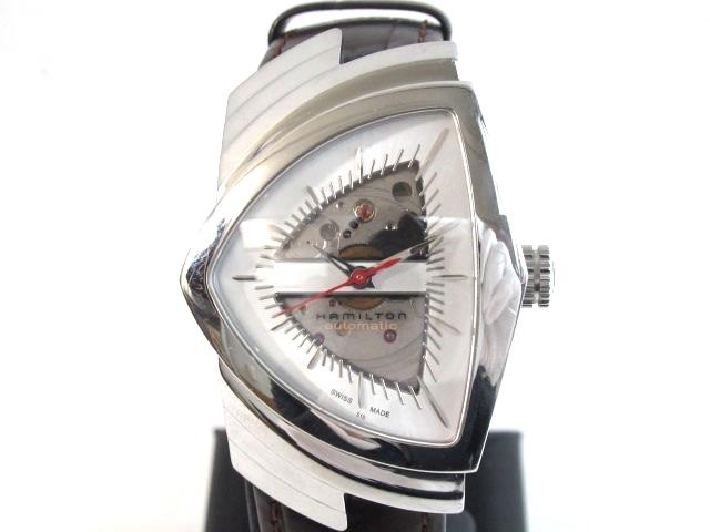 【送料無料】HAMILTON ハミルトン 時計 オートマチック ベンチュラ SS 革 91.9g【413】【中古】【大黒屋】