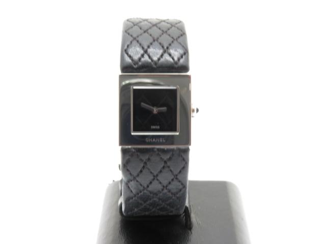 CHANEL レディース腕時計 マトラッセ クオーツ ステンレススチール 革【450】【中古】【大黒屋】