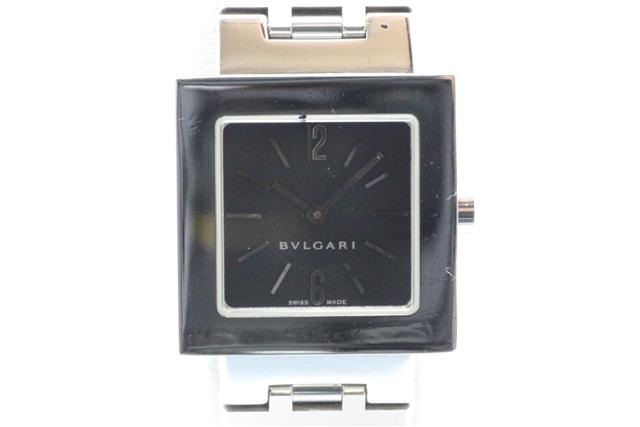 BVLGARI レディース腕時計 クアドラート クオーツ ステンレススチール【450】【中古】【大黒屋】