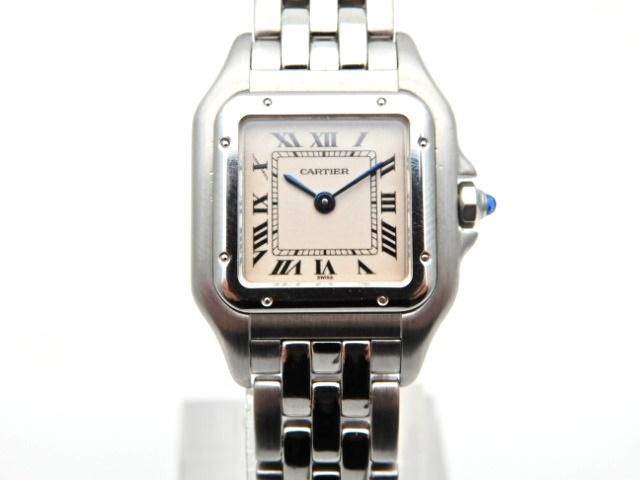 【送料無料】Cartier 時計 パンテールSM W25033P5 クオーツ SS アイボリー文字盤【439】【】【大黒屋】