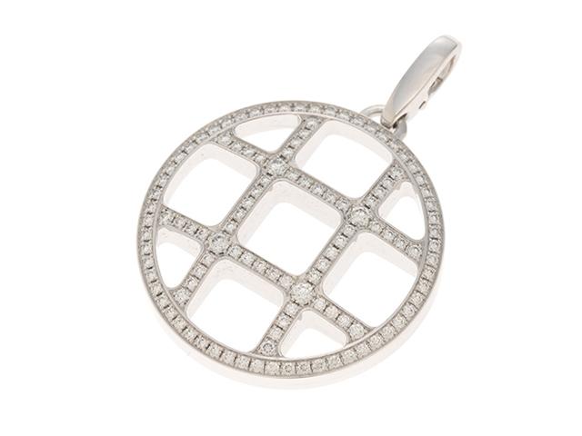 【送料無料】Cartier カルティエ パシャグリッド コットンコード ペンダントトップ ホワイトゴールド ダイヤモンド D 18.8g 箱・ギャラ付き【460】【中古】【大黒屋】
