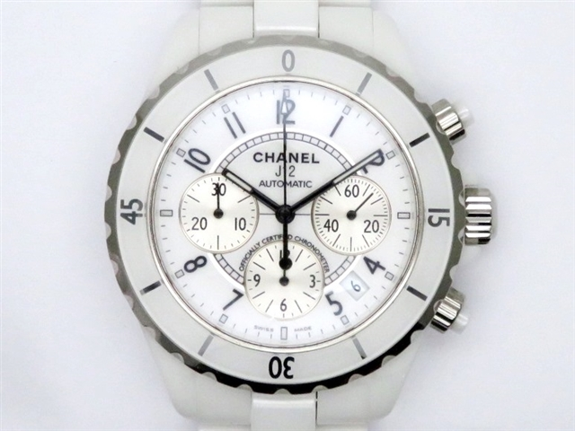 【送料無料】CHANEL シャネル 時計 メンズ J12クロノ オートマチック セラミック ホワイトアラビア H1007【471】【中古】【大黒屋】