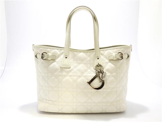 Dior ディオール パナレア トートバッグ コーティングキャンバス / カーフ ホワイト 【430】【中古】【大黒屋】