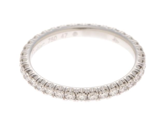 Cartier エタンセル ドゥ カルティエ リング 指輪 フルエタニティ ダイヤモンド K18WG ホワイトゴールド 47号 【205】【中古】【大黒屋】