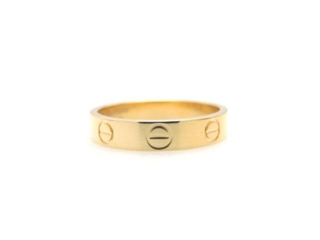【送料無料】Cartier カルティエ ミニラブリング 指輪 K18YG イエローゴールド 50号 【474】【中古】【大黒屋】