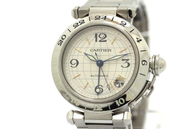 【送料無料】Cartier カルティエ パシャC メリディアン オートマチック シルバー【430】【中古】【大黒屋】