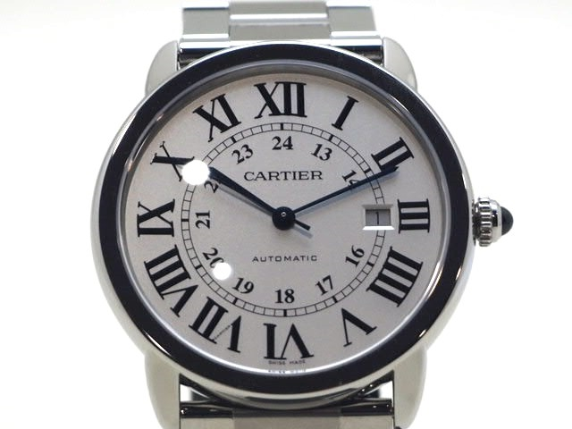 【送料無料】Cartier カルティエ 時計  ロンドソロXL W6701011 シルバー文字盤 ステンレス 自動巻き 【472】【中古】【大黒屋】