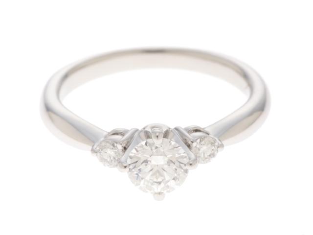 【送料無料】TASAKI タサキ PT950 プラチナ ダイヤモンド 0.41カラット 3.6g #5 5号 【204】【中古】【大黒屋】