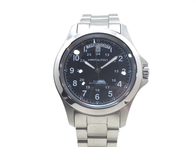 HAMILTON ハミルトン 時計 カーキキング デイデイト H644550 ステンレス オートマチック ブラック 【470】【中古】【大黒屋】