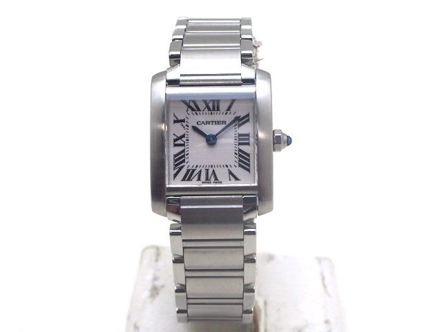 【送料無料】Cartier カルティエ 時計 タンクフランセーズSM W51008Q3 ステンレス クオーツ ホワイト 【470】【中古】【大黒屋】