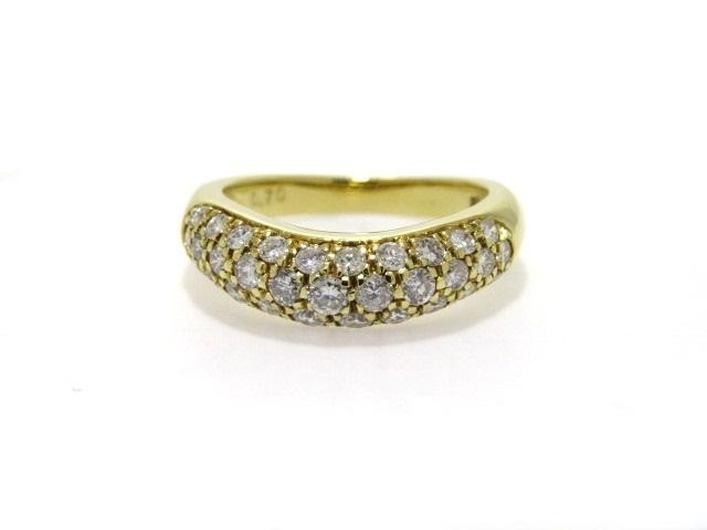 【送料無料】JEWELRY ノーブンドジュエリー リング 指輪 K18 イエローゴールド ダイヤモンド 11号 【432】【中古】【大黒屋】